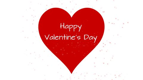 4K Happy Valentines Day greetings animated typo text with alpha channel