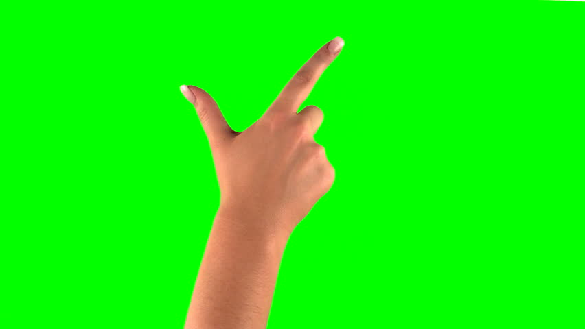4k: female touchscreen gestures in 3840 x 2160. Set of hand gestures.  Showing the uses of computer touchscreen tablet trackpad or ipad with green screen. modern technology | Shutterstock HD Video #8800930