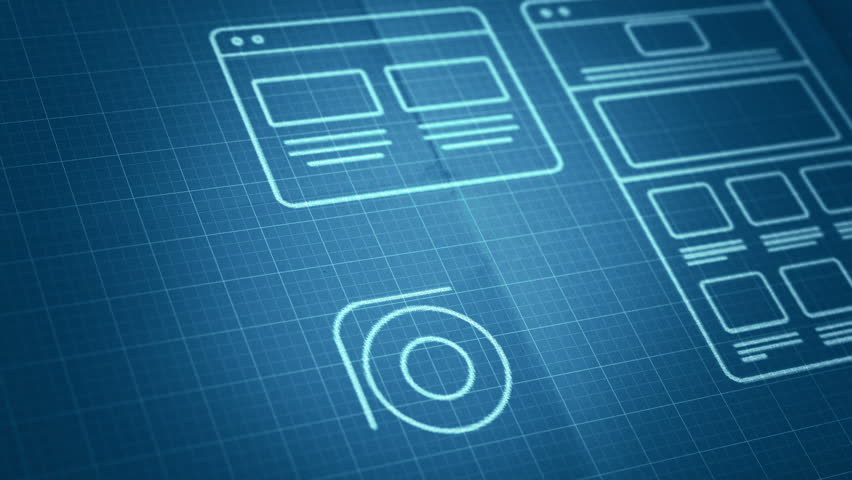 Stylized interface design process blueprint animation concept stylized interface design process blueprint animation concept technology drawing animation different colors in my profile stock footage video 8801515 malvernweather Image collections