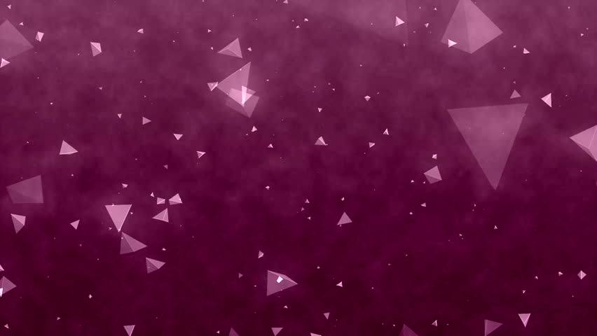 Purple Polygonal Abstract Background: Burgundy Background Polygonal Animation. High Definition