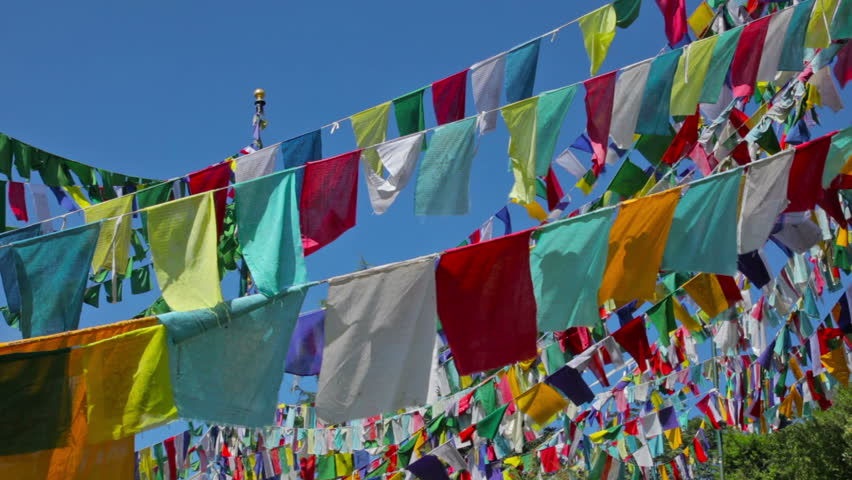 Prayer flags in mountain