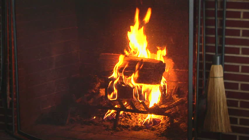 Real Fireplace Loop. Looped HD1080 Video Clip. Stock Footage Video ...