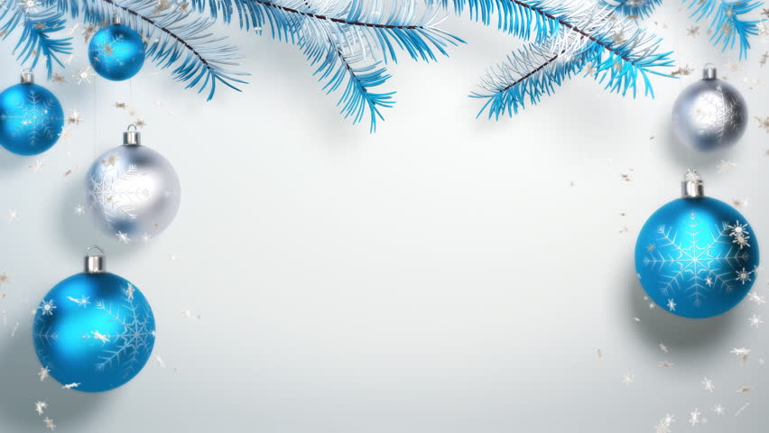blue christmas balls and snow stock footage video 100 royalty free 8868805 shutterstock