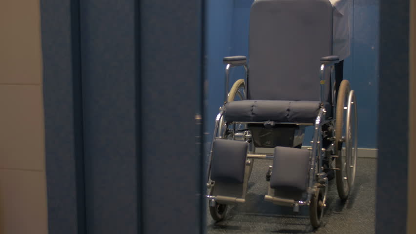 Manual wheelchair out of the elevator | Shutterstock HD Video #8874652