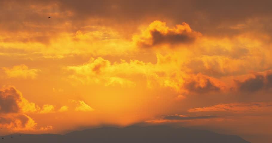 Malaga Sunset City Sky View 4k