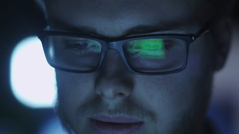 Computer Screen Reflection in Programmer's Glasses