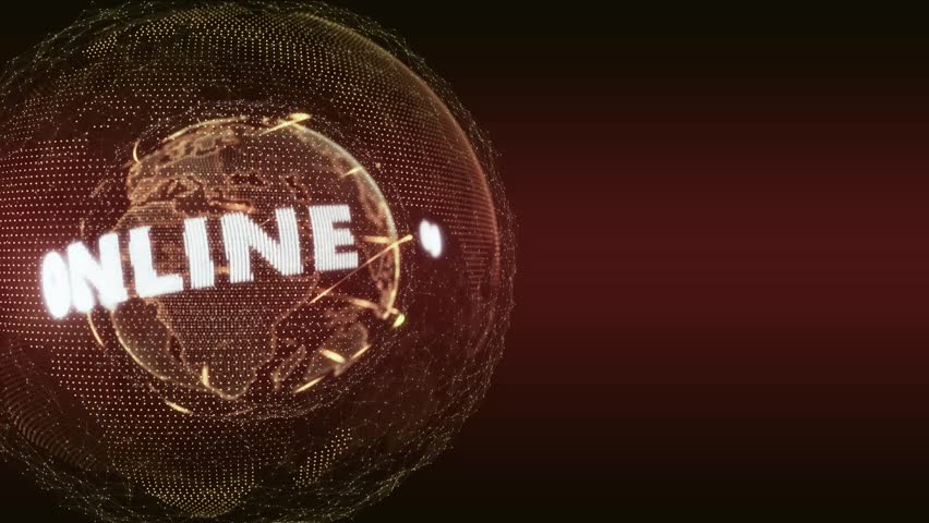 World News Online Internet Intro Teaser orange red | Shutterstock HD Video #8902255