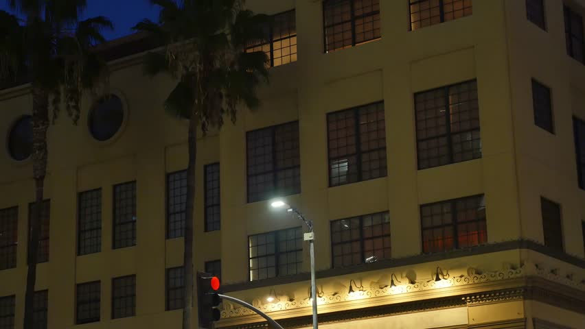 Apartment Building At Night a typical new york style apartment building establishing shot at