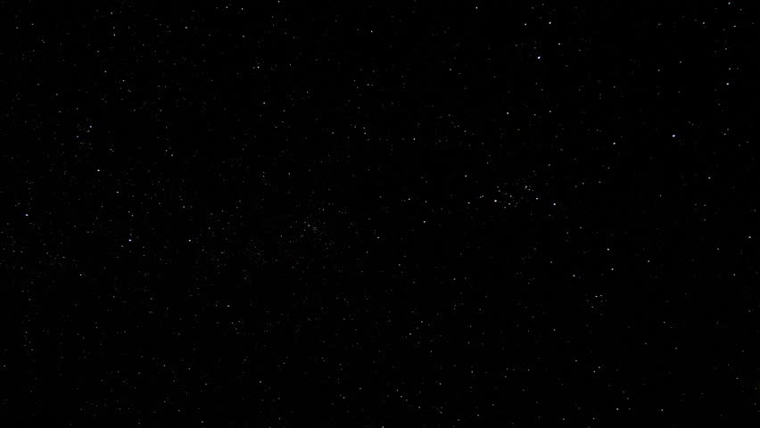 Timelapse of stars moving in night sky, starry sky turning around the Earth 4K