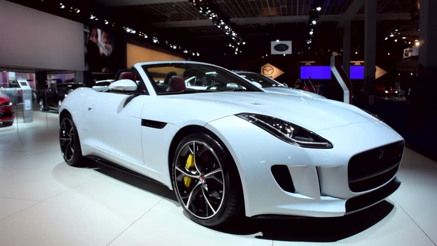 Stock Video Clip Of BRUSSELS, BELGIUM   JANUARY, 2015: Jaguar F Type |  Shutterstock