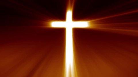 Light cross of Christ, ray beams background