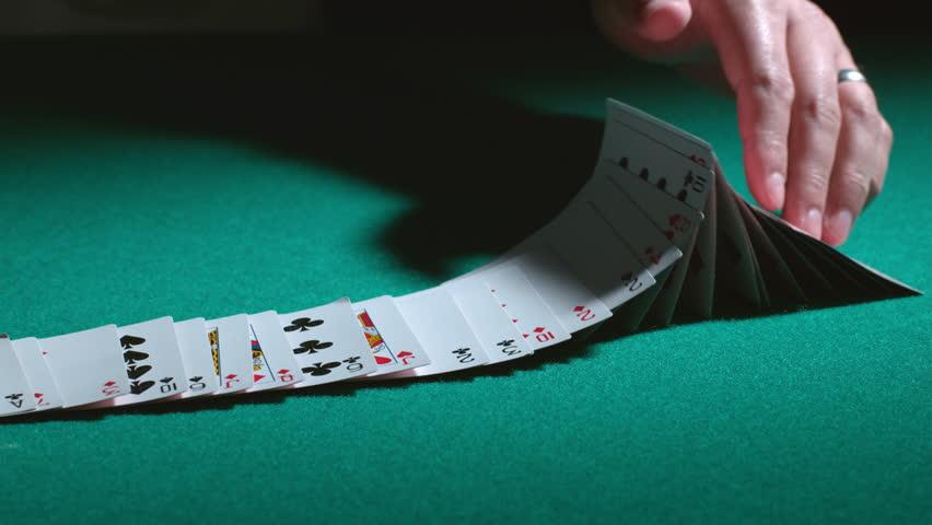 Card tricks in slow motion; shot on Phantom Flex 4K at 1000 fps | Shutterstock HD Video #8988205