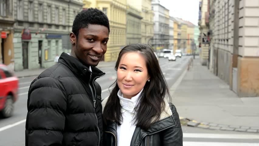 Asian girl and black guy