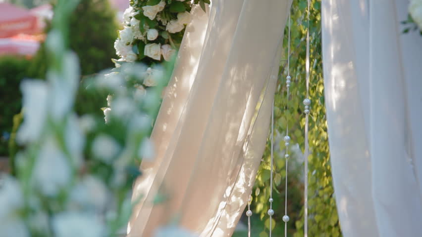 Wedding Decoration Of Natural Flowers Stock Footage Video 100