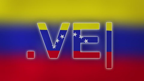 "VE - internet domain of Venezuela. Typing top-level domain "".VE"" against blurred waving national flag of Venezuela. Highly detailed fabric texture for 4K resolution. Clip ID: ax1070c"