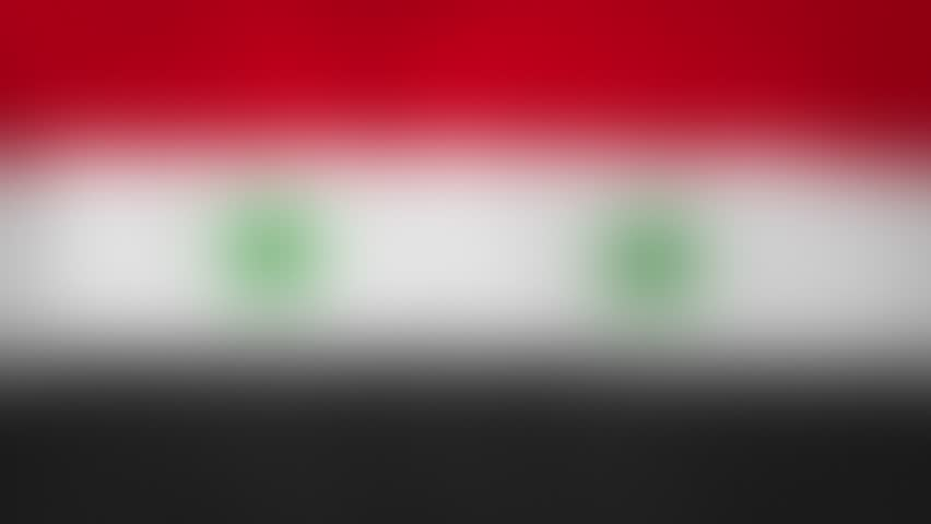 """SY - internet domain of Syria. Typing top-level domain """".SY"""" against blurred waving national flag of Syria. Highly detailed fabric texture for 4K resolution. Source: CGI rendering. Clip ID: ax1043c"""