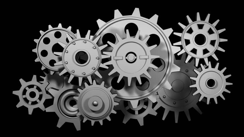 Broken Gears System, 3d Animation Stock Footage Video