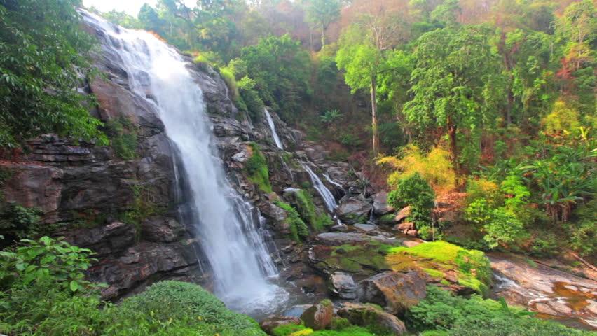 Chaimai Waterfall, Chiangmai, Thailand (Wachiratarn Waterfall) | Shutterstock HD Video #9015745