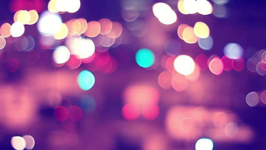 Defocused City Lights at Night Stock Footage Video (100% ...