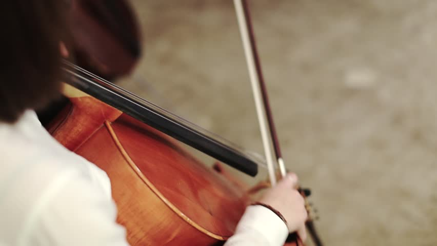 Girl playing the cello. close-up | Shutterstock HD Video #9102755