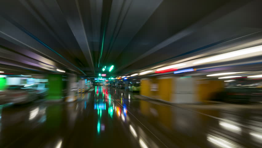 Underground parking, time-lapse | Shutterstock HD Video #9123455