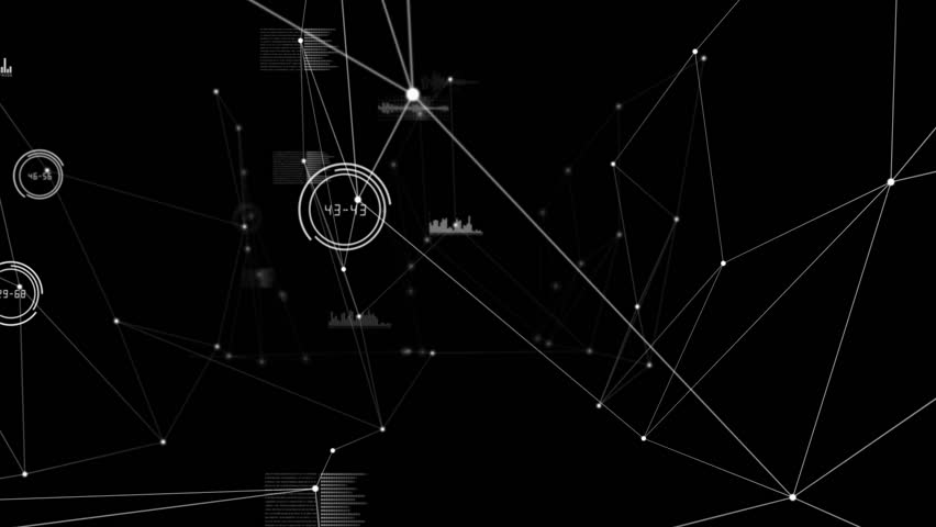 Digital animation of Graphs and lines on black background | Shutterstock HD Video #9134045