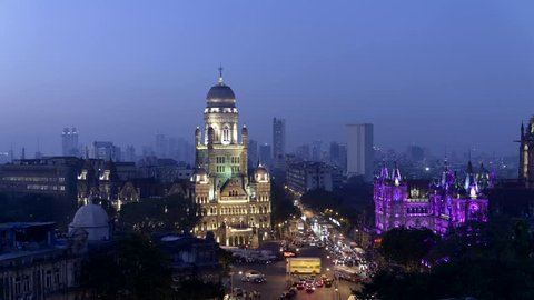 Time lapse video of new illumination on Chhatrapati Shivaji Terminus (CST) formerly Victoria Terminus, is a UNESCO World Heritage Site and Brihan Mumbai Municipal Corporation (BMC) Building, Mumbai.