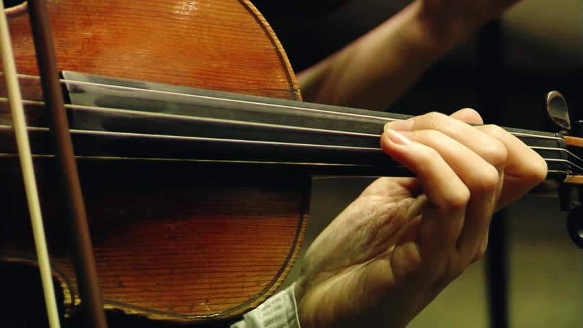 Violin in the orchestra