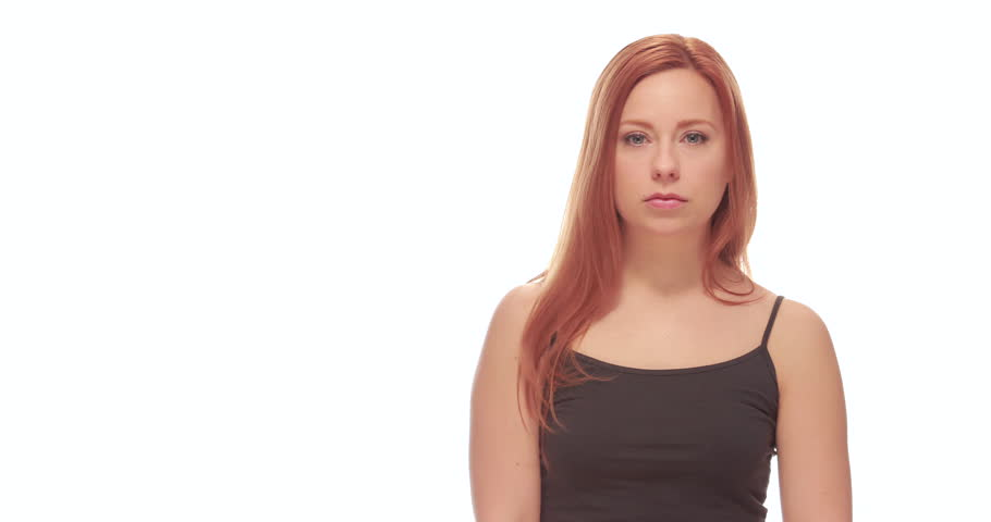 Young Caucasian woman surprised face | Shutterstock HD Video #9185885