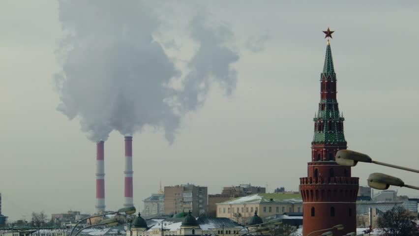 Urban landscape with smoke | Shutterstock HD Video #9200165