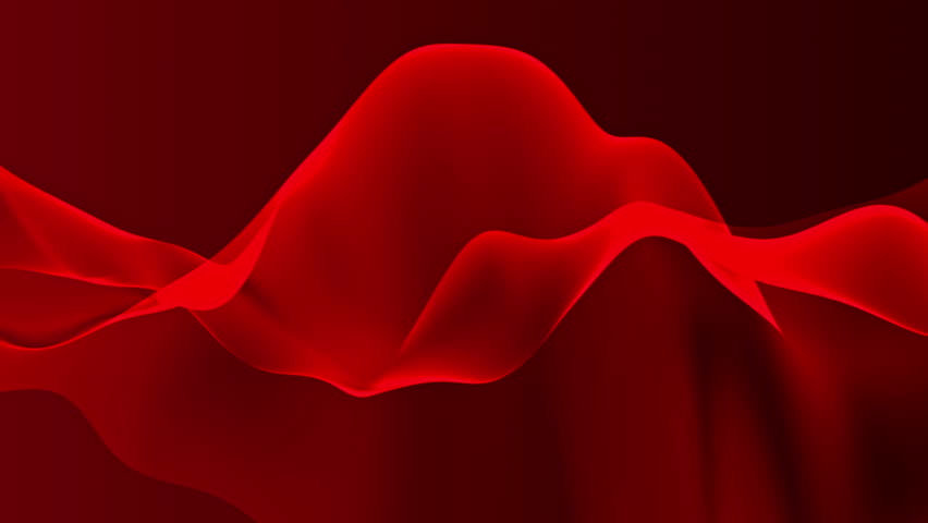 Abstract Background Waving With Red Fabric To The Wind Clear Backdrop Of Ripple Beautiful Abstraction Glowing Waves