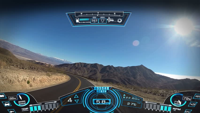 car driving pov apps display motion graphics GPS technology game touchscreen