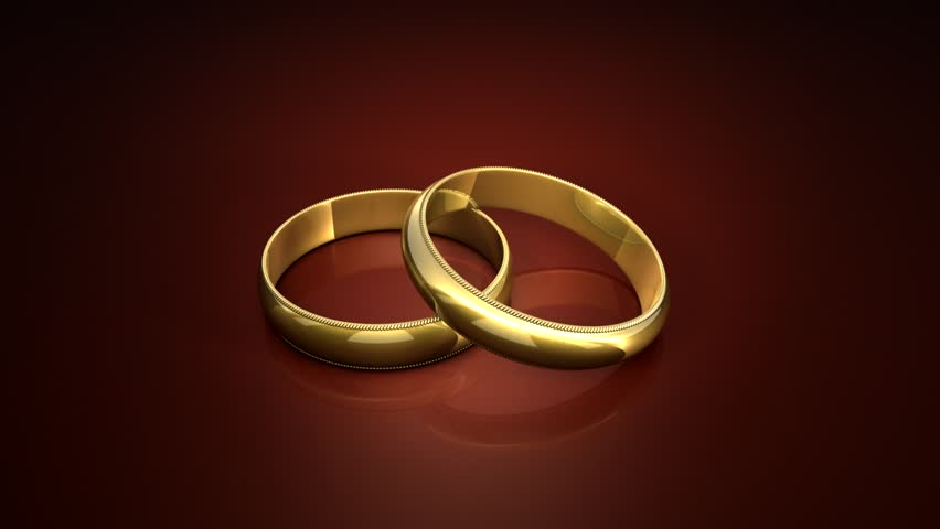 Rendering Illusion From Rotating Gold Rings Stock Footage Video