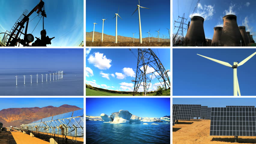 Montage Collection Showing Environmental Pollution From
