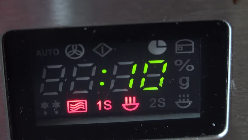 4k Microwave Count Down From 10 Till End Stock Footage Clip