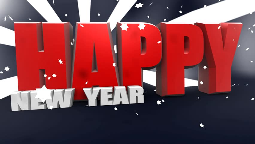 Happy new year animation - 3d