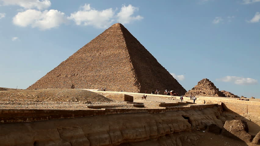 Great Pyramid in Giza Egypt with Tourists in Background  | Shutterstock HD Video #938095