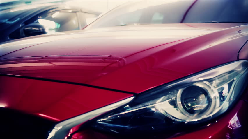 Headlight Of Sport Car Red Stock Footage Video 100 Royalty Free