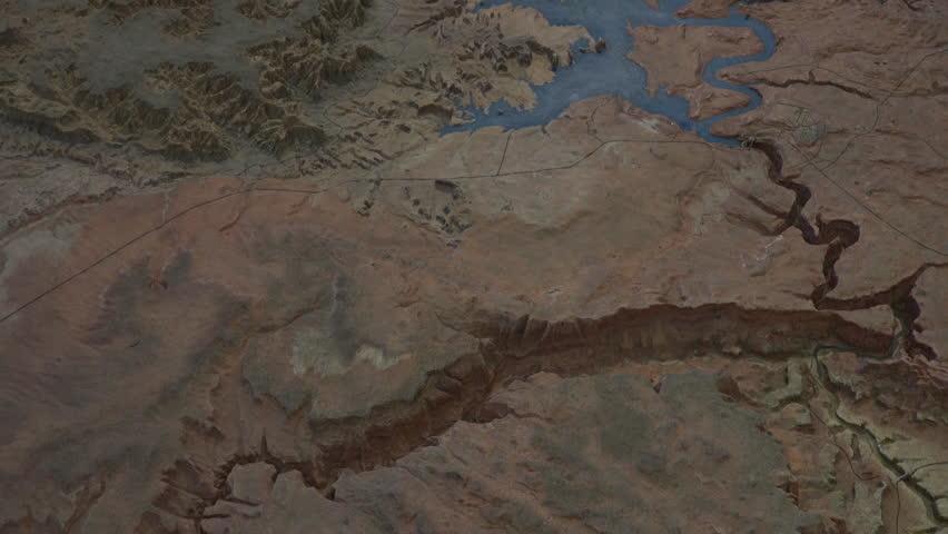 Map Of Highway 89 In Arizona.Page Arizona Jan 2015 Stockvideos Filmmaterial 100