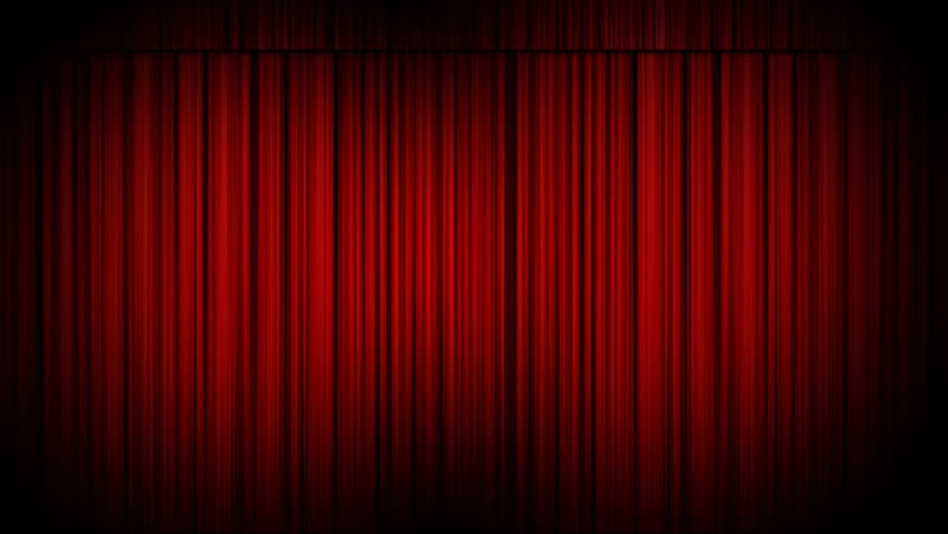 Marvelous Cinema Curtains Opening Revealing An Empty Canvas. Matte Included To Add  Your Own Footage Behind