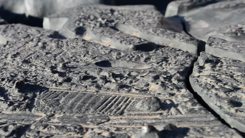 District topography on a stone
