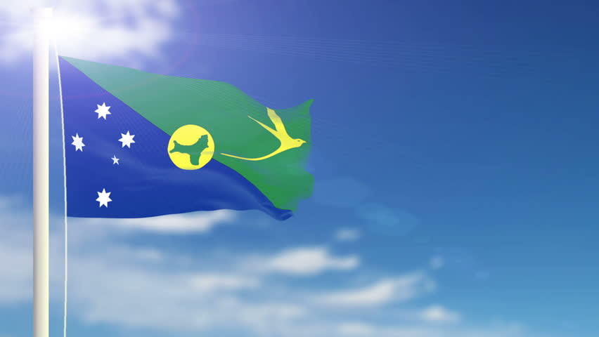 Christmas Island Flag.Christmas Island Flag Slowly Waving Stock Footage Video 100 Royalty Free 958375 Shutterstock