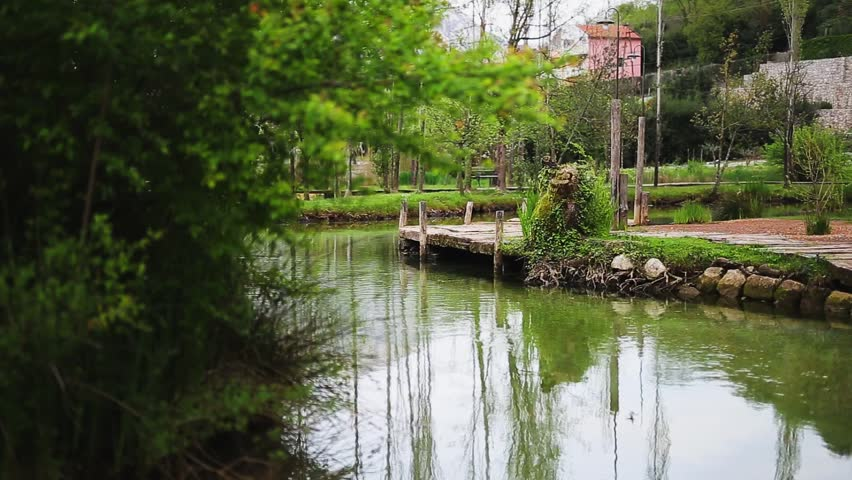 wooden bridge by the river montenegro atovia mlini hd stock - Bamboo Garden 2016
