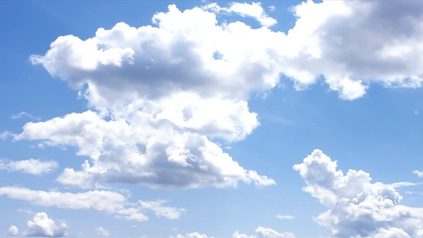Blue Clouds & Sky, Video quality, high defination,  slowmotion ULTRA HD, 4K, 3840x2160. UHD. | Shutterstock HD Video #9617765