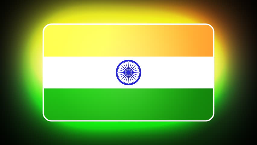 Flower With Indian Flag Hd: HD Loop Stock Footage Video 900712