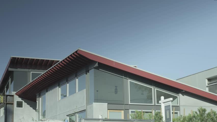 Exterior shot of a modern house in Venice Beach, California.   Shutterstock HD Video #9663044