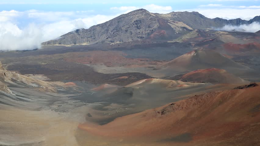 Volcanic cones in haleakala national park maui hawaii stock wind in haleakala national park maui hawaii hd stock footage clip publicscrutiny Image collections