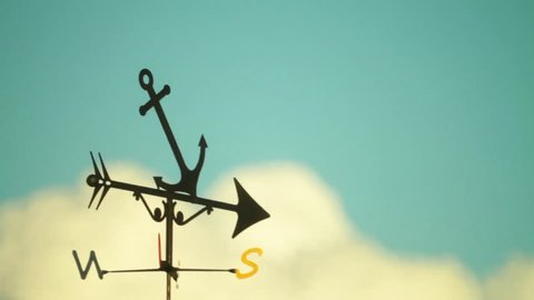 Weather Vane rotates in the wind