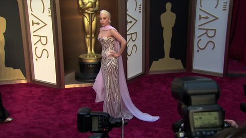 Hollywood, CA - March 02,2014: Lady Gaga at Academy Awards 2014, Dolby Theatre