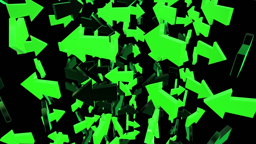 Abstract arrows in green and black | Shutterstock HD Video #9803063